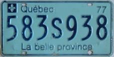 شماره ماشین در کبک