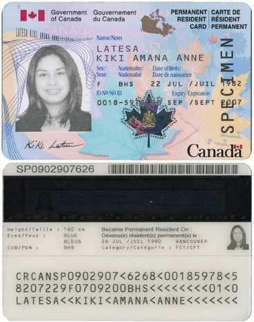 کارت اقامت دائم یا کارت PR